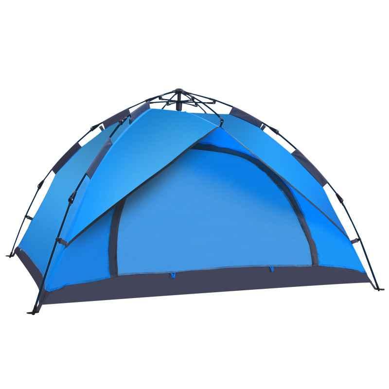 德国帐篷户外全自动人野营露营装备双层六角蒙古包帐篷