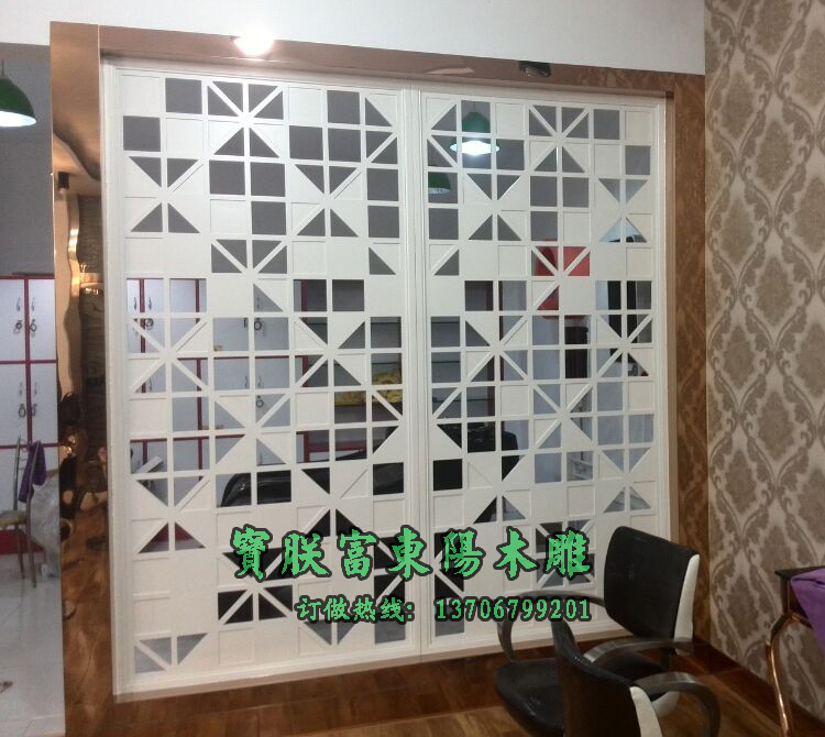 密度板镂空雕花板隔断隔段客厅隔断装饰雕花屏风隔断墙电视背景墙