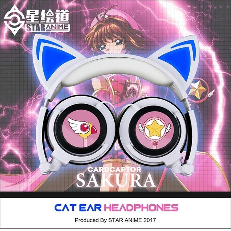 动漫周边魔卡少女樱百变小樱可爱猫耳朵二次元运动耳机