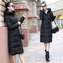 冬棉衣女装2016新款加厚大码长款过膝羽绒棉服韩版修身加长款防寒