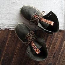 靴秋季新文艺复古日系及踝靴女短靴子 磨砂系带马丁靴女鞋 短毛 包邮图片