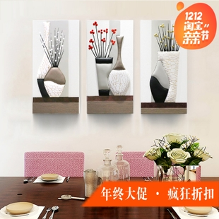 餐厅装饰画客厅浮雕壁画手工皮画3D立体沙发背景墙挂画现代简约