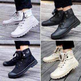 高帮鞋秋冬天男靴子青少年工装短靴韩版休闲帆布鞋男生潮流马丁靴