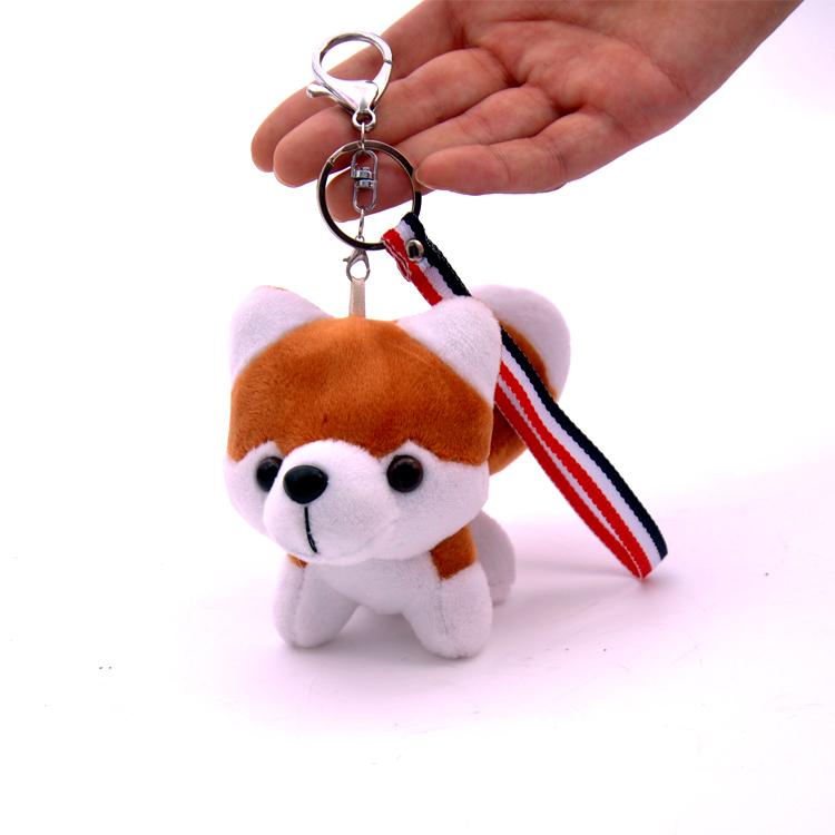 可爱卡通毛绒钥匙扣挂件哈士奇狗狗挂件包包挂饰韩国创意女生礼品