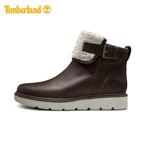 Timberland/添柏岚女鞋17秋冬新款舒适保暖抓绒冬靴|A1IAO
