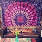 印度瑜伽会所家居布艺挂毯床单桌布挂布 曼达拉挂毯 民族风挂布大