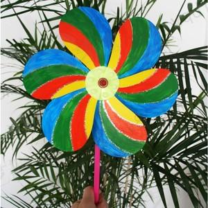 六一儿童节礼物幼儿园手工材料手工diy儿童手工-diy自制风车批发