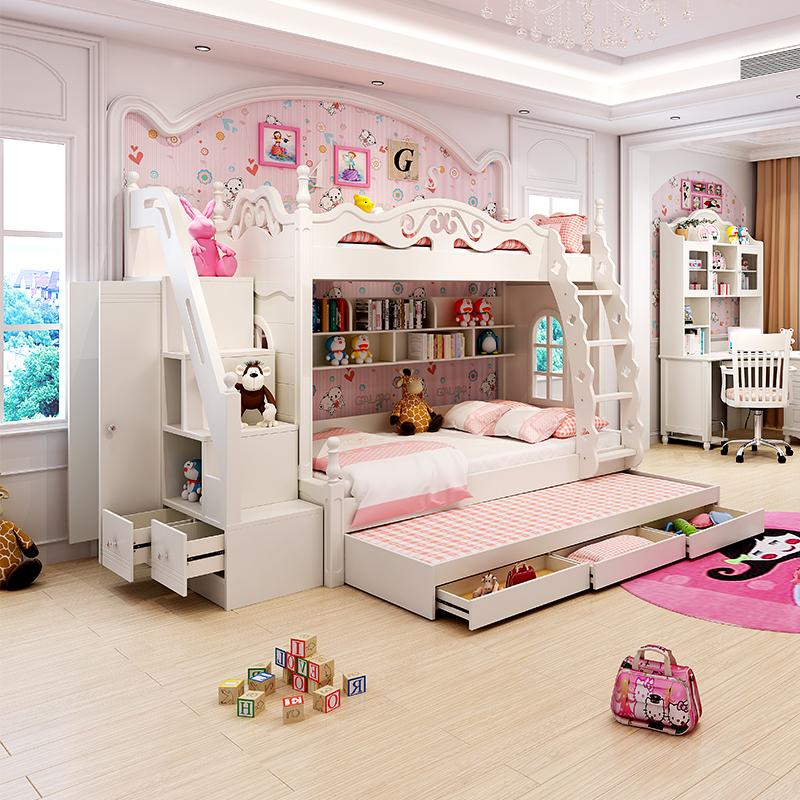 青春乐园 儿童床女孩上下床双层床公主床高低床子母床图片