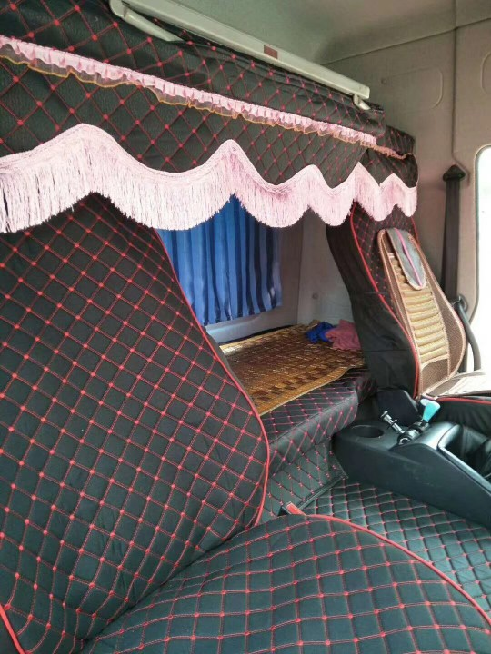 大货车座套解放j6p欧曼est天龙豪沃t7德龙x3000坐垫套卧铺四件套