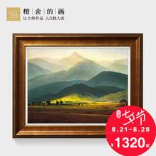 橙舍欧式油画装饰画客厅风景油画 美式餐厅挂画现代玄关 巨人山