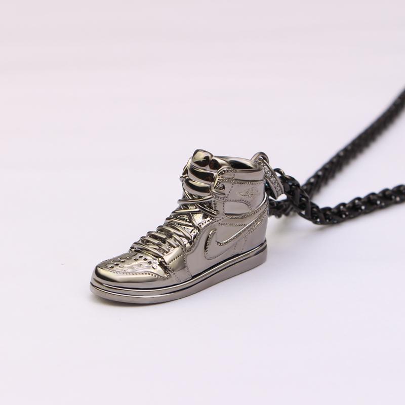 球鞋吊坠潮牌项链德国情人侣款生日刻字礼物包邮 AJ1 银运动出品 925