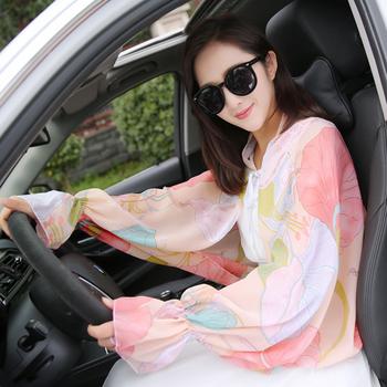 夏季女士防晒手套薄长款开车防紫