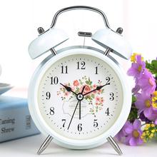 可爱个性 静音闹表带夜灯超大声台钟时钟 学生床头懒人创意小闹钟