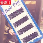 韩版特价一字夹黑色钢夹发卡盘发夹子美发盘头造型必备工具饰品