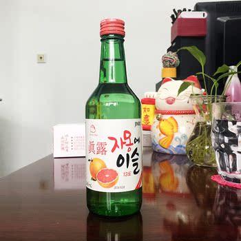 包邮韩国烧酒真露竹炭西柚水果味