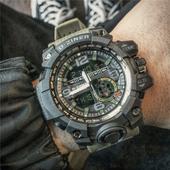 潮男防水电子表双显多功能跑步运动计时手表男士军表大表盘夜光表