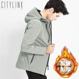 男士外套秋冬季2017新款韩版休闲冬装潮流帅气加绒加厚夹克男衣服