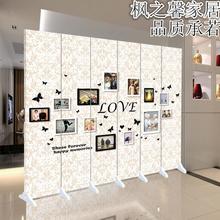 屏风隔断时尚玄关客厅现代简约折屏卧室办公酒店布艺屏风欧式风格