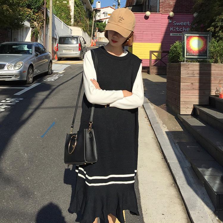 正品[无袖针织长裙]无袖针织背心裙评测 无袖针