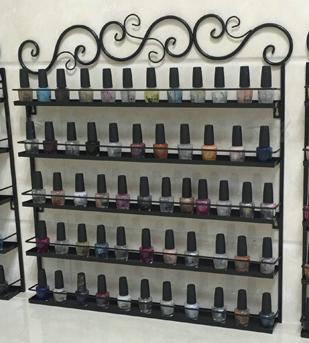 欧式铁艺壁挂指甲油架美甲店收纳架展示架化妆品多层