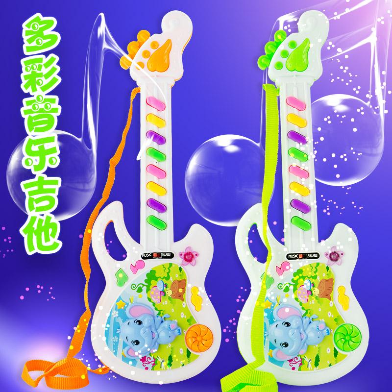 玩具批发生日礼物女生 创意音乐吉他带垮绳玩具批发 地摊货免邮