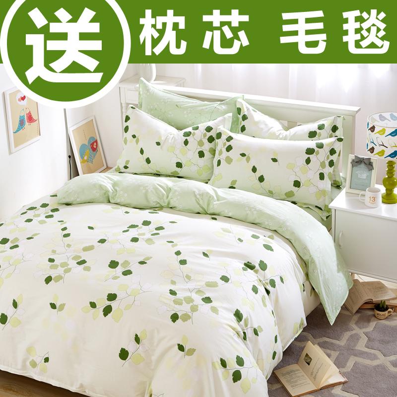米床 床上雙人水星夏季純棉炫耀家紡全棉四件套春