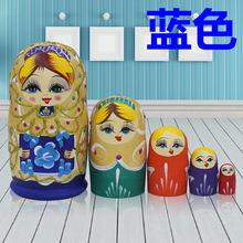 俄罗斯套娃正品5层纯手工艺品创意摆件儿童益智玩具环保礼物包邮