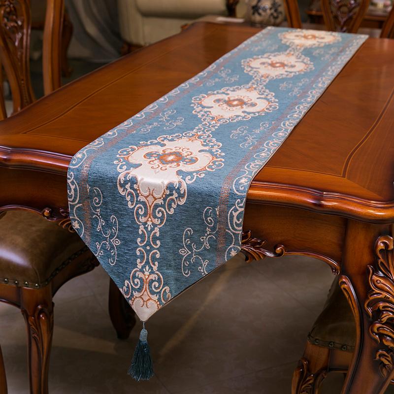 欧式高档桌旗中式古典桌布客厅餐桌电视柜茶几布艺床旗礼品包邮