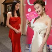 大红色晚礼服抹胸礼服明星同款 定制晚上礼服新款手工礼服晚装