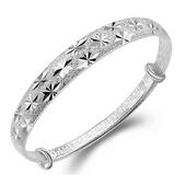 满天星99银色手镯同款女款学生礼物简约镯子送妈妈女朋友手链