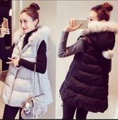 棉衣外套 女装 新款 背心马甲200斤中长款 2016加肥加大码 胖mm秋冬装