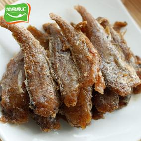 香酥小黄鱼舟山海鲜特产即食零食包邮 500g 小鱼干 香辣小黄鱼仔