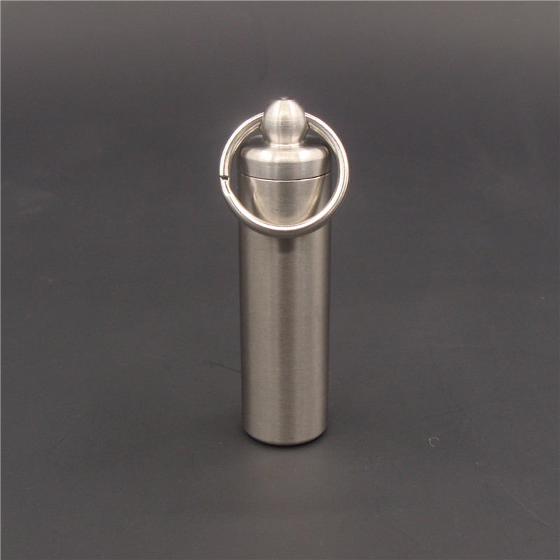 户外不锈钢防水罐密封盒密封仓EDC挂件迷你金属便携密封胶囊药瓶
