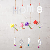 幼儿园挂饰女生儿童生日礼物卧室阳台铃铛挂件 创意可爱风铃门饰