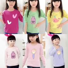 女孩体恤上衣宝宝童装 纯棉中小儿童打底衫 T恤 春秋装 新款 女童长袖