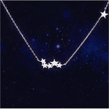 铜镀银饰品星星项链甜美配饰女锁骨链简约吊坠短款春日韩国时尚