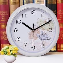 【天天特价】超静音挂钟时尚卡通儿童卧室客厅创意挂表石英时钟表