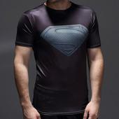天天特价超人pro紧身衣男健身衣蝙蝠侠训练服速干跑步运动短袖t恤
