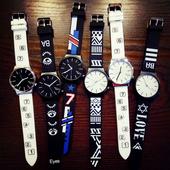 权志龙gd同款exo潮男韩版简约女学生创意个性黑白色情侣手表一对