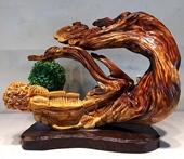 太行崖柏根雕陈化天然随形摆件木雕客厅雕刻工艺品礼品观音寿星公