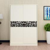 简约现代衣柜推拉门移门衣柜趟门衣柜2门3门成人衣柜经济型储物柜