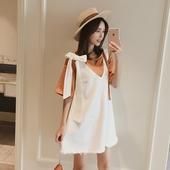 吊带牛仔连衣裙两件套女夏2017新款韩版学生宽松时尚套装背带裙子