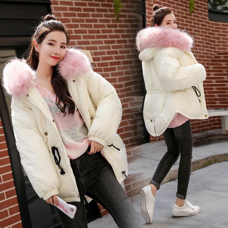 2017冬季新款大毛领棉衣女韩版短款小棉袄女收腰显瘦学生加厚外套