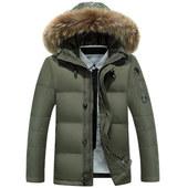 AFS JEEP/战地吉普2016新款男士羽绒服韩版短款修身加厚外套冬装
