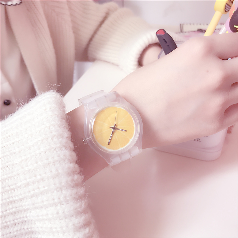 日系小清新果冻可爱ulzzang原宿风少女韩国简约初中学生女孩手表