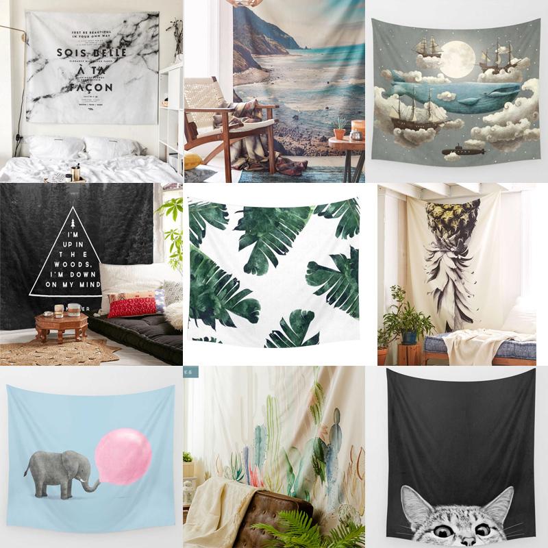凡薇 挂布挂毯壁毯背景墙沙发巾桌布瑜伽沙滩巾家居布艺装饰窗帘