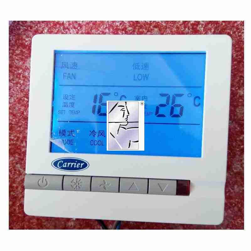 开利温控开关风机盘管控制面板液晶大显屏温控器中央空调控制器