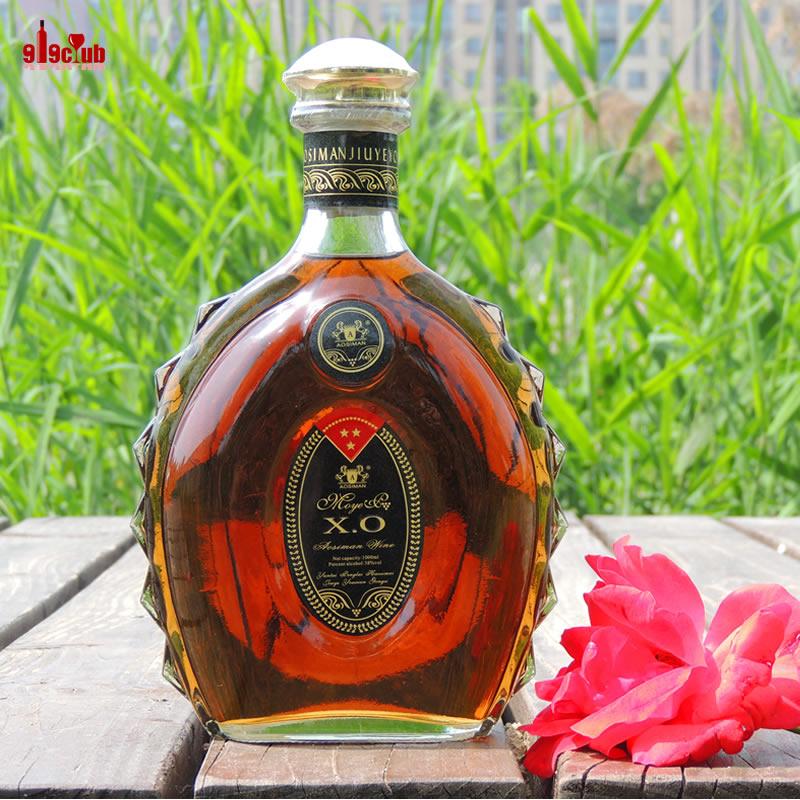 酒 洋酒 奥斯曼大XO  xo白兰地 38度1000ml 两斤装 礼带 白兰地酒