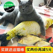 猫玩具猫薄荷逗猫玩具猫薄荷鱼宠物毛绒仿真鱼抱枕猫咪玩具猫用品