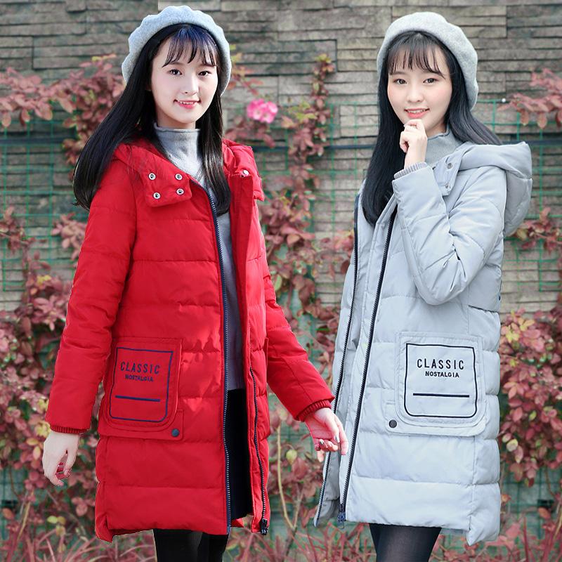 2017冬季加厚棉衣女中长款面包服初高中学生棉袄可爱软妹冬季外套